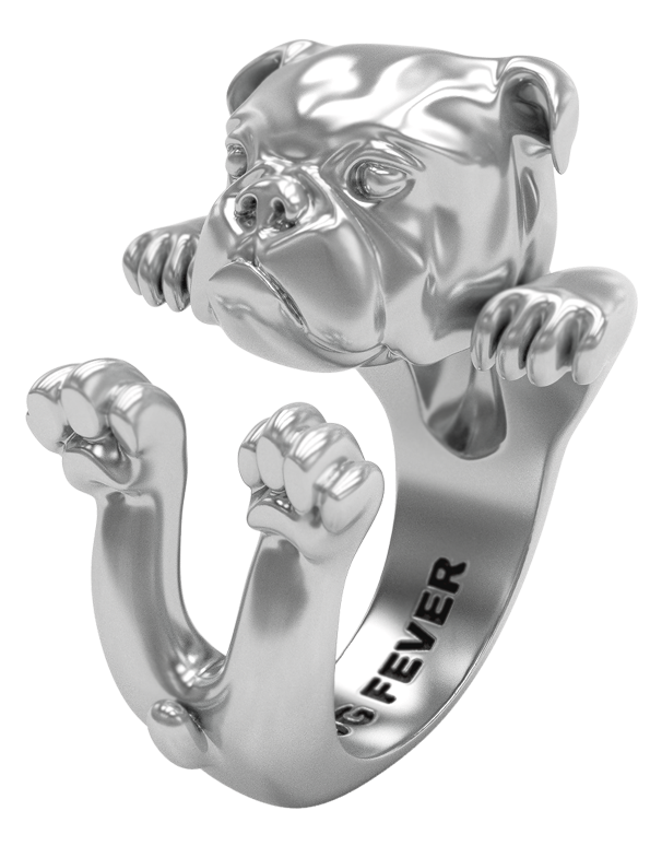 Dog Fever - English Bulldog Silver Hug Ring - 762900 - Salera's Melbourne, Victoria and Brisbane, Queensland Australia