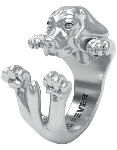 Dog Fever - Beagle Silver Hug Ring - 762901