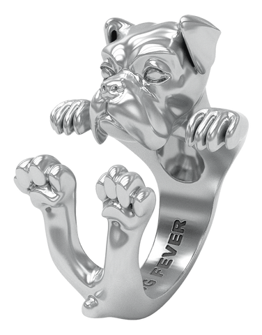 Dog Fever - Boxer Silver Hug Ring - 762903