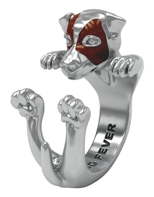 Dog Fever - Jack Russel Silver Hug Ring - 762911 - Salera's Melbourne, Victoria and Brisbane, Queensland Australia
