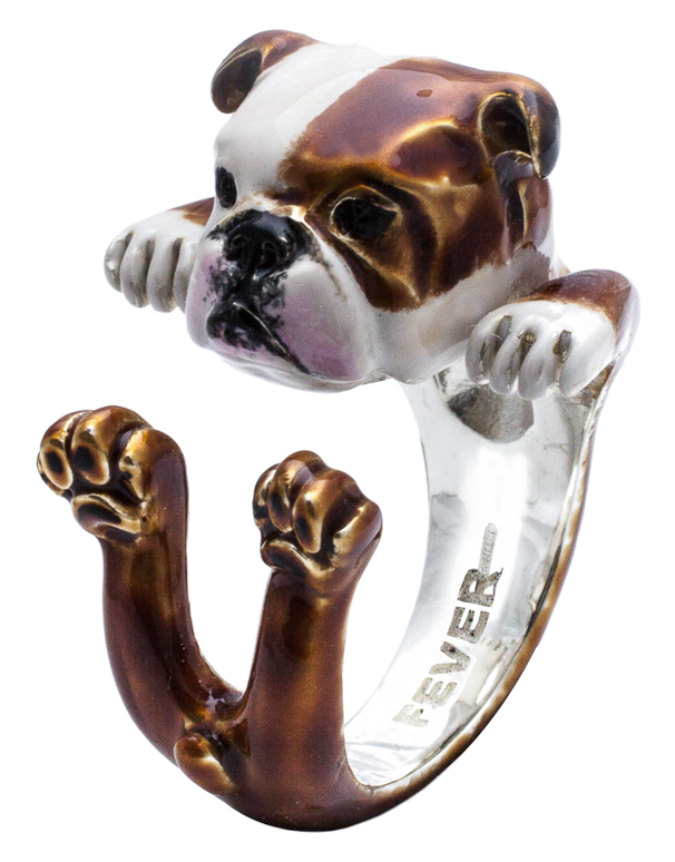 Dog Fever - English Bulldog Enamelled Hug Ring - 762913 - Salera's Melbourne, Victoria and Brisbane, Queensland Australia