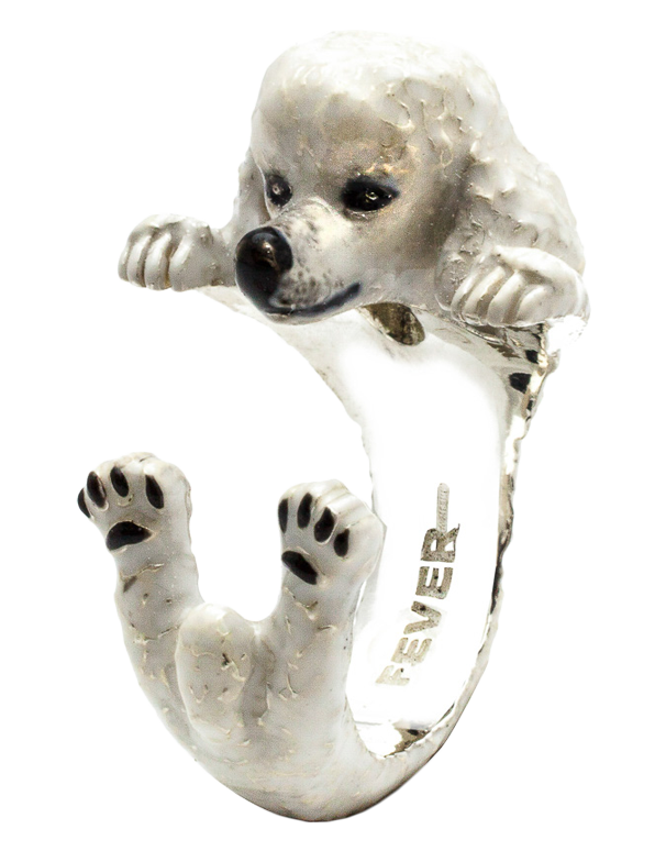 Dog Fever - Poodle Enamelled Hug Ring - 762914 - Salera's Melbourne, Victoria and Brisbane, Queensland Australia