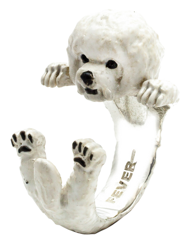 Dog Fever - Bichon Frese Enamelled Hug Ring - 762920
