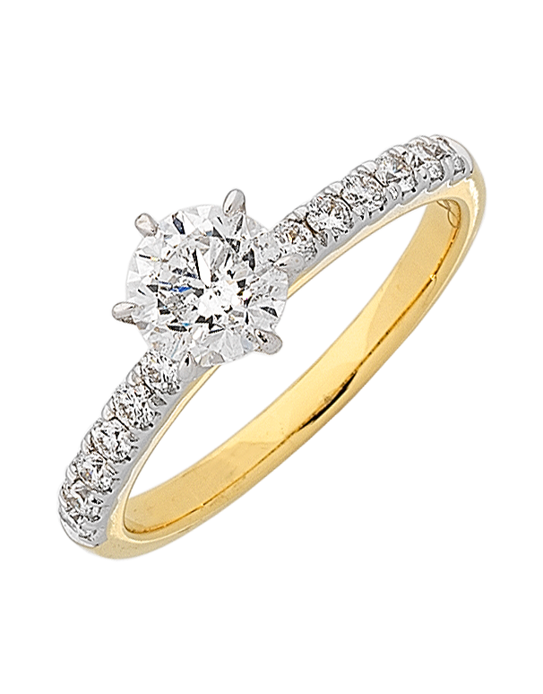 Diamond Ring - Yellow Gold Engagement Ring - 763385 - Salera's Melbourne, Victoria and Brisbane, Queensland Australia