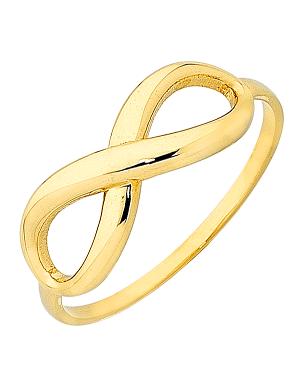 Gold Ring - Yellow Gold Infinity Ring - 763417