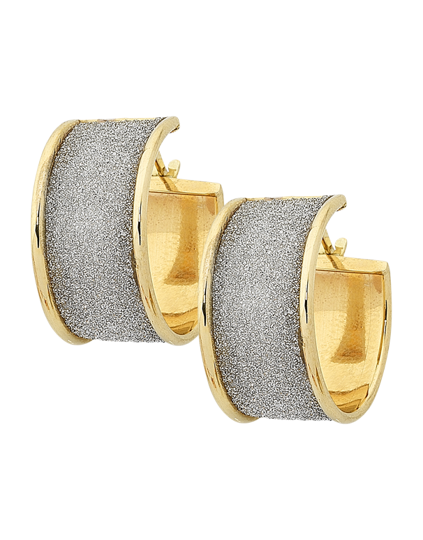 Gold Earrings - Two Tone Gold Hoop Earrings - 763442 - Salera's Melbourne, Victoria and Brisbane, Queensland Australia - 1
