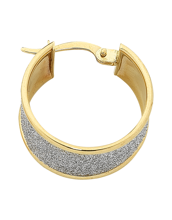 Gold Earrings Two Tone Gold Hoop Earrings