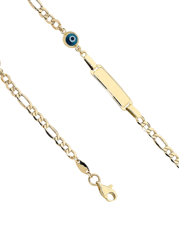 Gold Bracelet - Yellow Gold ID Charm Bracelet - 763458 - Salera's Melbourne, Victoria and Brisbane, Queensland Australia