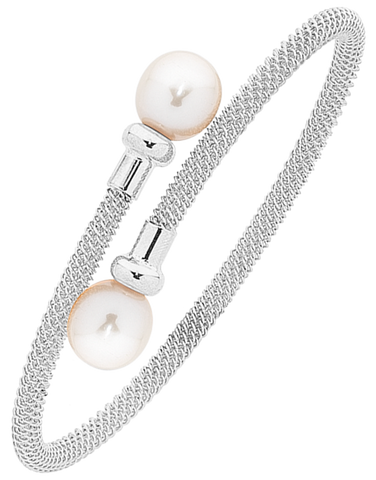Pearl Bangle - Sterling Silver Pearl Bangle - 763600