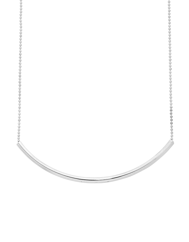 Silver Necklace - Sterling Silver Bar Necklet - 763609