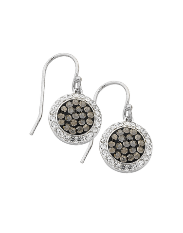 CZ Earrings - Sterling Silver CZ Drop Earrings - 763613