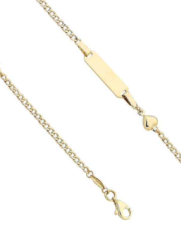 Gold Bracelet - Yellow Gold ID Charm Bracelet - 763626 - Salera's Melbourne, Victoria and Brisbane, Queensland Australia