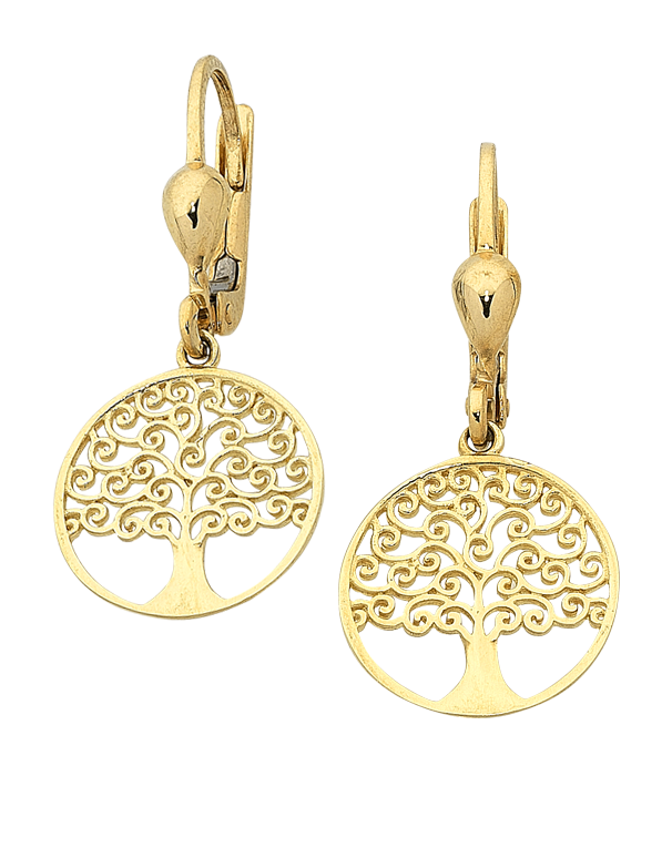 Gold Earrings - Yellow Gold Tree of Life Earrings - 763628 - Salera's Melbourne, Victoria and Brisbane, Queensland Australia