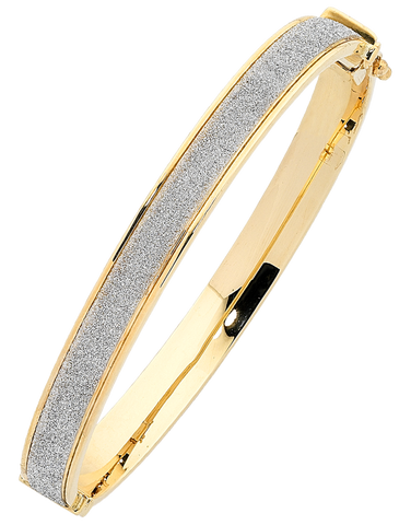 Gold Bangle - 9ct Two Tone Bangle - 763632