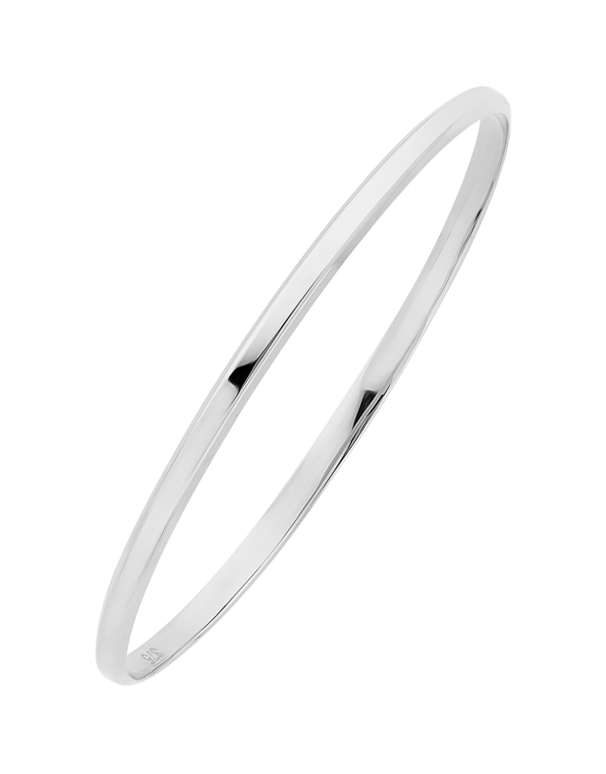 White Gold Bangle - 9ct White Gold Bangle - 763657