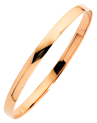 Gold Bangle - 9ct Rose Gold Bangle - 763736