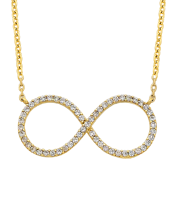 CZ NECKLACE - YELLOW GOLD CZ NECKLET