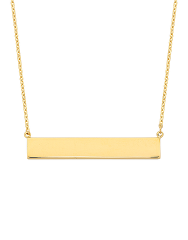 Gold Necklace - Yellow Gold Bar Necklet - 763751