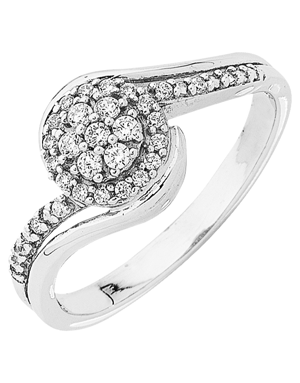 Diamond Ring - 9ct White Gold Diamond Ring - 763756 - Salera's