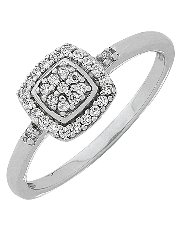 Diamond Ring - White Gold Diamond Ring - 763757 - Salera's