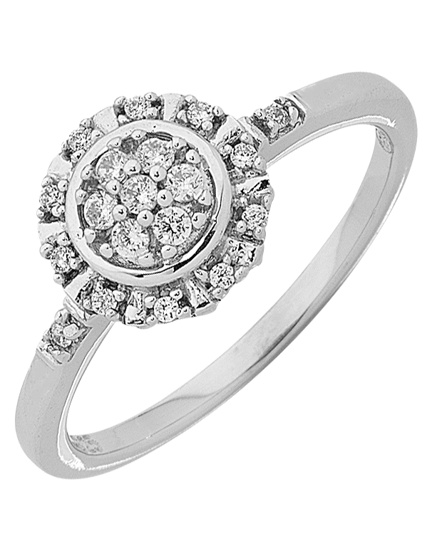 Diamond Ring - White Gold Diamond Ring - 763758