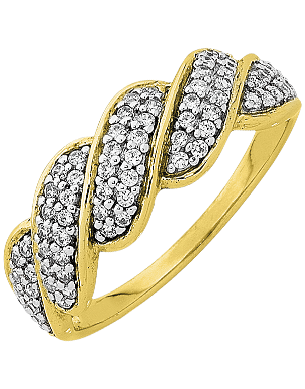 Diamond Ring - Yellow Gold Diamond Dress Ring - 763760 - Salera's Melbourne, Victoria and Brisbane, Queensland Australia