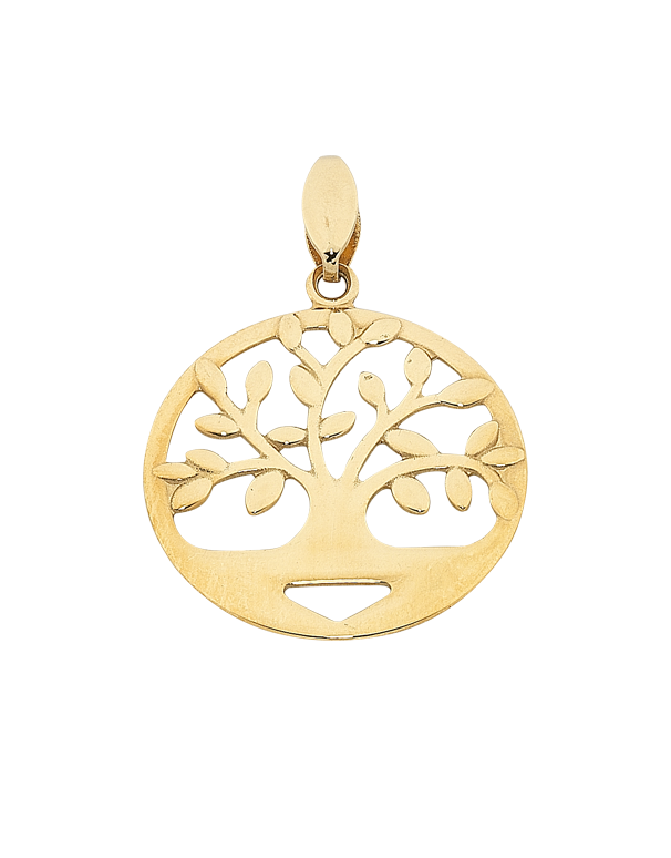 Gold Pendant - Yellow Gold Tree of Life Pendant - 763775 - Salera's Melbourne, Victoria and Brisbane, Queensland Australia
