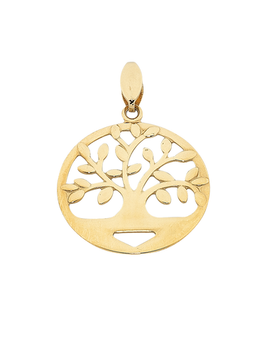 Gold Pendant - Yellow Gold Tree of Life Pendant - 763775