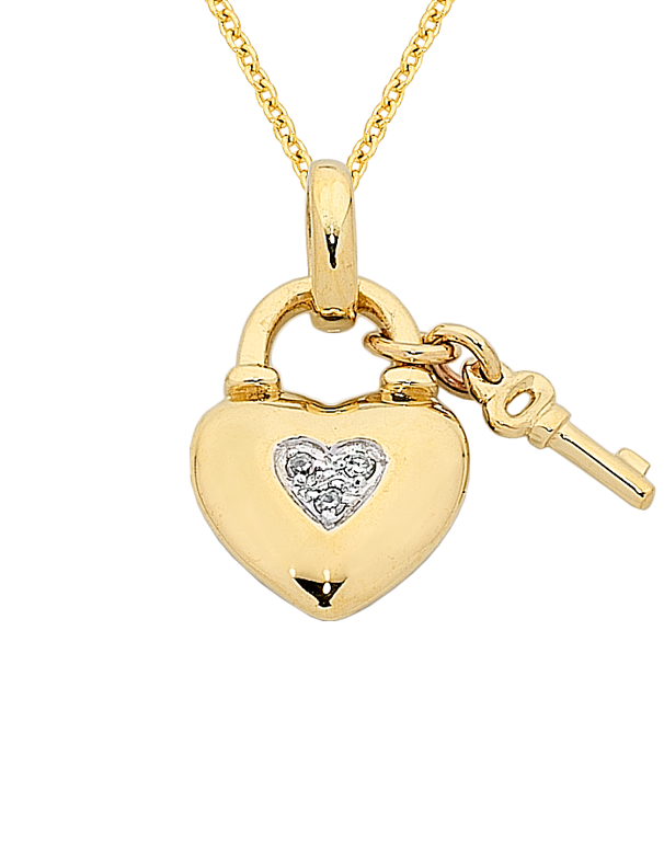 Diamond pendant yellow gold diamond heart pendant 763819 saleras aloadofball Images