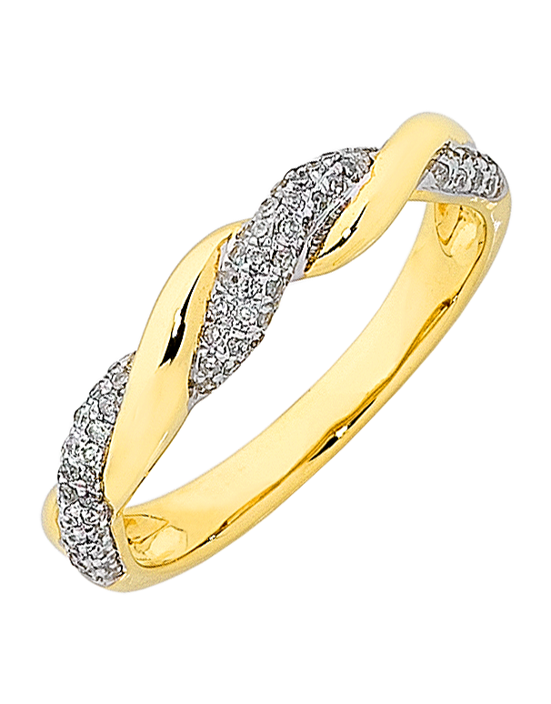 Diamond Ring - Yellow Gold Diamond Ring - 763820 - Salera's Melbourne, Victoria and Brisbane, Queensland Australia - 1