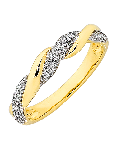 Diamond Ring - Yellow Gold Diamond Ring - 763820