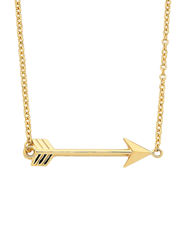Gold Necklace - Yellow Gold Arrow Necklet - 763856