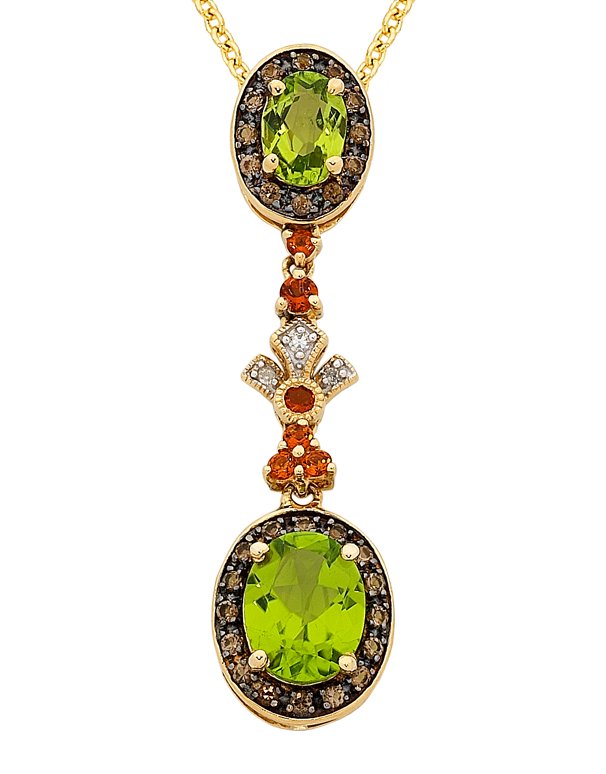 Peridot Pendant - Yellow Gold Peridot & Diamond Pendant - 763911 - Salera's Melbourne, Victoria and Brisbane, Queensland Australia