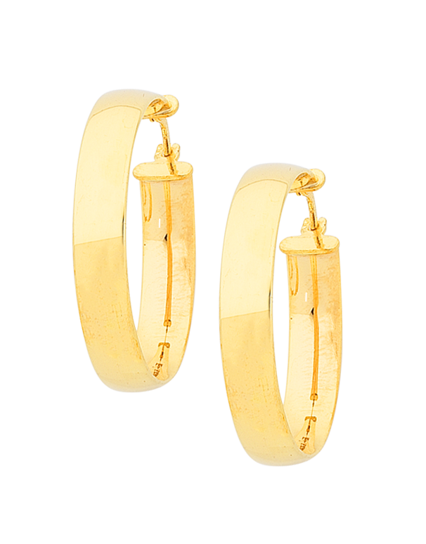 Gold Earrings - Gold Hoop Earrings - 763936
