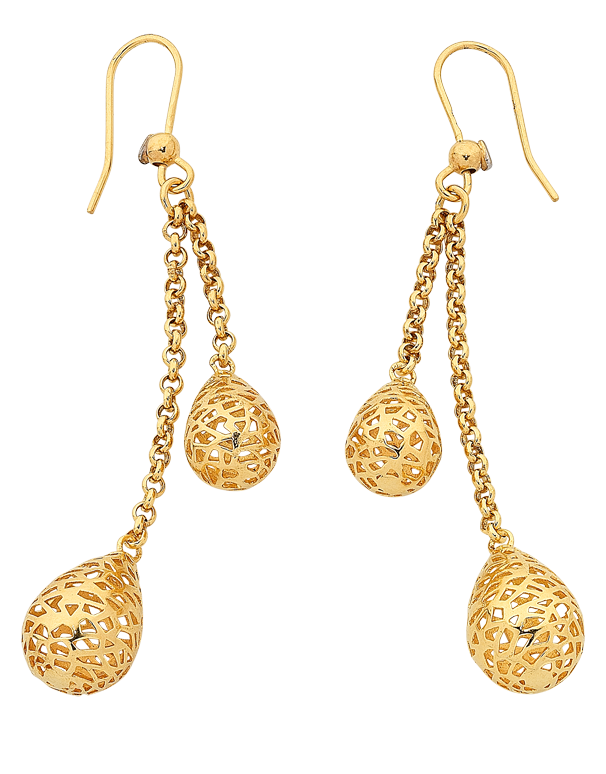 Gold Fusion Earrings - Gold Drop Earrings - 763943