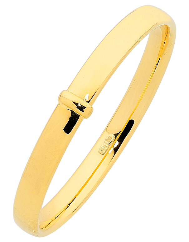 Gold Fusion Bangle - Plain Gold Bangle - 763950