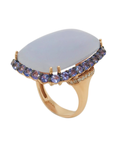 Esclusivo - 14ct Rose Gold Lavender Moon Quartz Ring - 764088