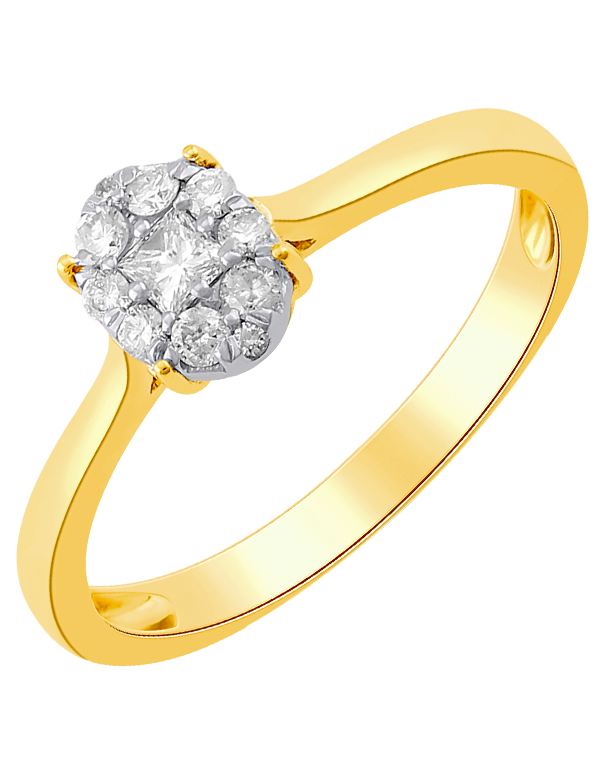 Diamond Ring - Yellow Gold Diamond Ring - 764227