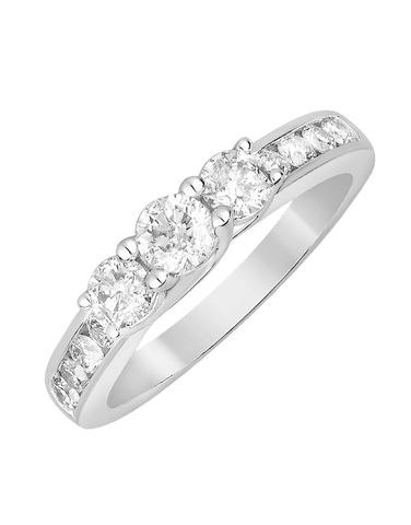 Diamond Ring - White Gold Diamond Dress Ring - 764233