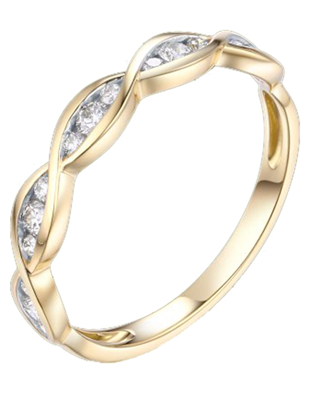 Yellow Gold Ring - 18ct Yellow Gold Stacking Ring - 764457 - Salera's