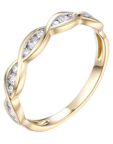 Yellow Gold Ring - 18ct Yellow Gold Stacking Ring - 764457
