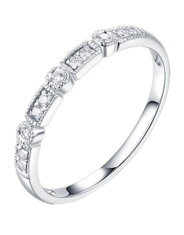 White Gold Ring - 18ct White Gold Stacking Ring - 764459