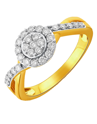 Diamond Ring - Two Tone Diamond Ring - 764691
