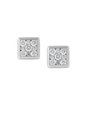 Diamond Earrings - Diamond Set White Gold Earrings - 764695