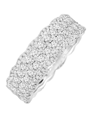 White Gold Ring - 14ct White Gold Ring - 764700