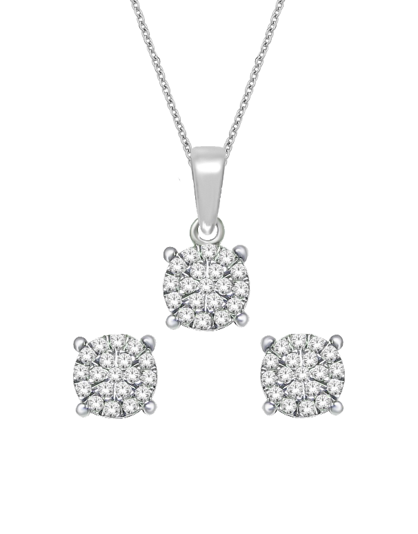 Diamond - Matching Diamond Pendant & Earrings Set - 764720 - Salera's Melbourne, Victoria and Brisbane, Queensland Australia