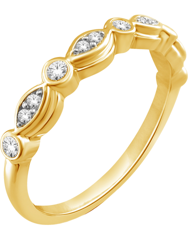 Gold Ring - 9ct Yellow Gold Stacker Ring - 764813