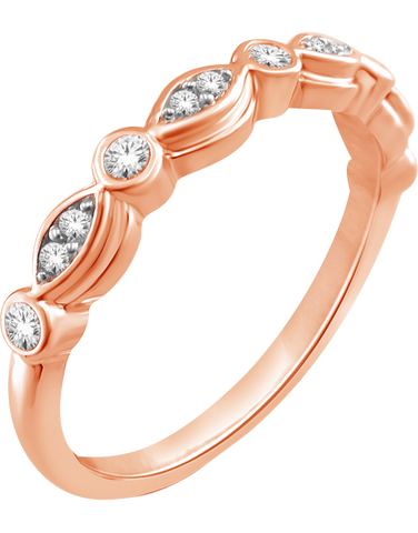 Gold Ring - 9ct Rose Gold Stacker Ring - 764814