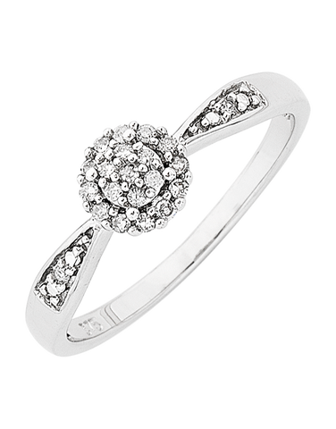 Diamond Ring - 9ct White Gold Diamond Ring - 765048