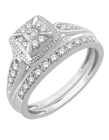 Diamond Ring - 10ct White Gold Diamond Ring - 765078